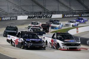 #15: Tanner Gray, DGR-Crosley, Ford F-150 Ford Performance #3: Jordan Anderson, Jordan Anderson Racing, Chevrolet Silverado US Law Shield