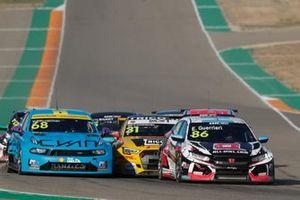 Yann Ehrlacher, Cyan Racing Lynk & Co 03 TCR, Tom Coronel, Comtoyou DHL Team Audi Sport Audi RS3 LMS, Esteban Guerrieri, ALL-INKL.COM Münnich Motorsport Honda Civic TCR