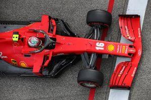 Charles Leclerc, Ferrari SF1000, heads for the grid