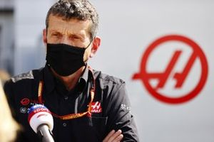Guenther Steiner, Team Principal, Haas F1, is interviewed by Sky Sports F1