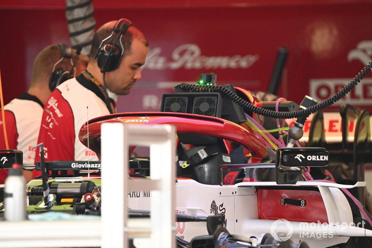 Detalle técnico del Alfa Romeo