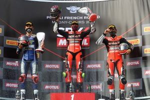 Loris Baz, Ten Kate Racing Yamaha, Scott Redding, Aruba.it Racing Ducati, Chaz Davies, ARUBA.IT Racing Ducati