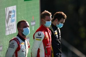 Luca Ghiotto, Hitech Grand Prix, Race Winner Mick Schumacher, Prema Racing and Christian Lundgaard, ART Grand Prix on the podium