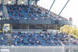 Fans on thr grandstand