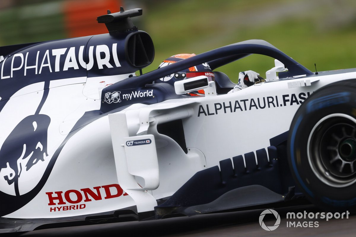 Yuki Tsunoda, Honda Formula Dream Project, tests the AlphaTauri