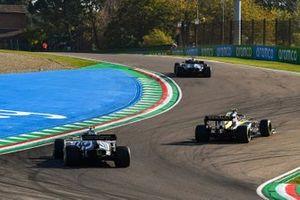 Lewis Hamilton, Mercedes F1 W11, Esteban Ocon, Renault F1 Team R.S.20, and Pierre Gasly, AlphaTauri AT01