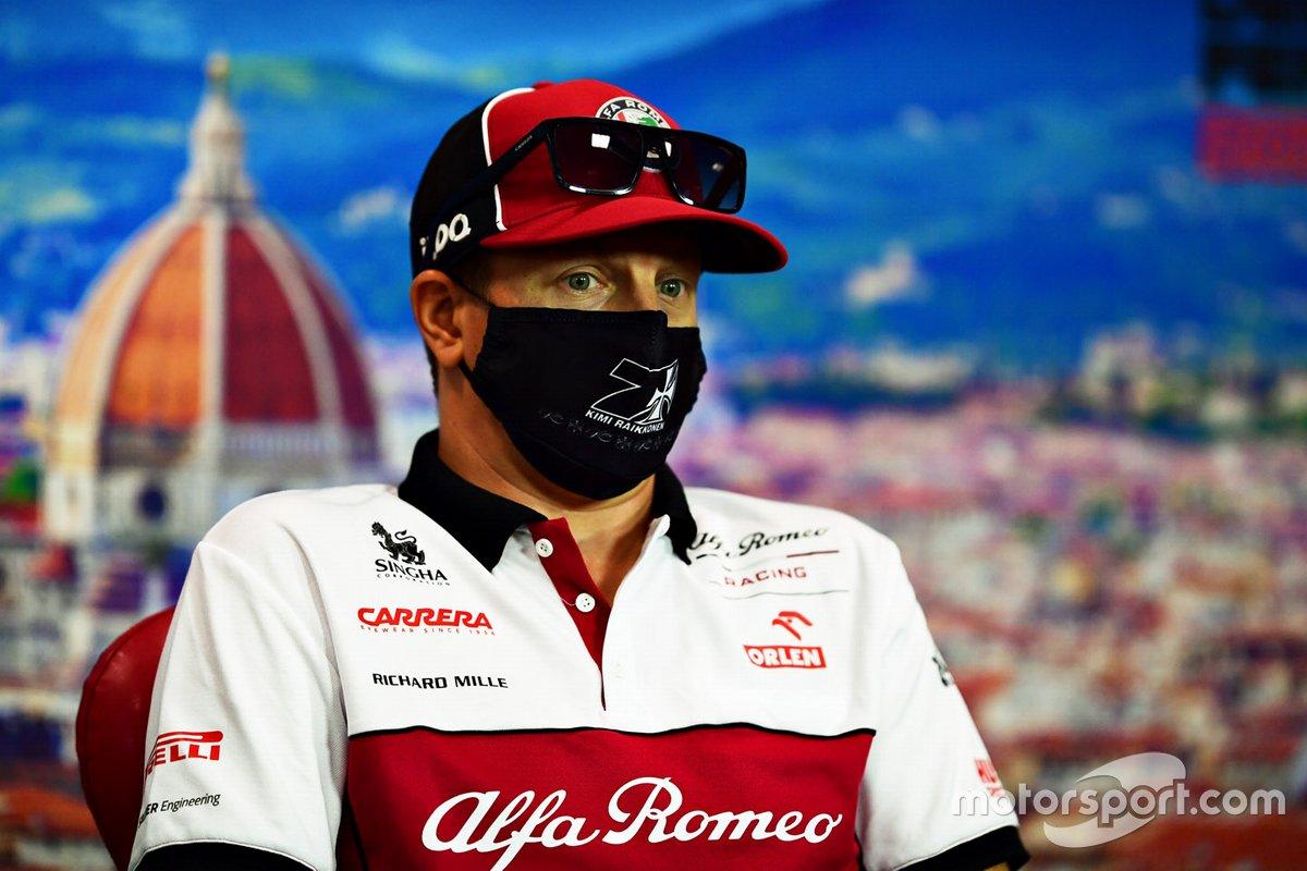 Kimi Raikkonen, Alfa Romeo in conferenza stampa