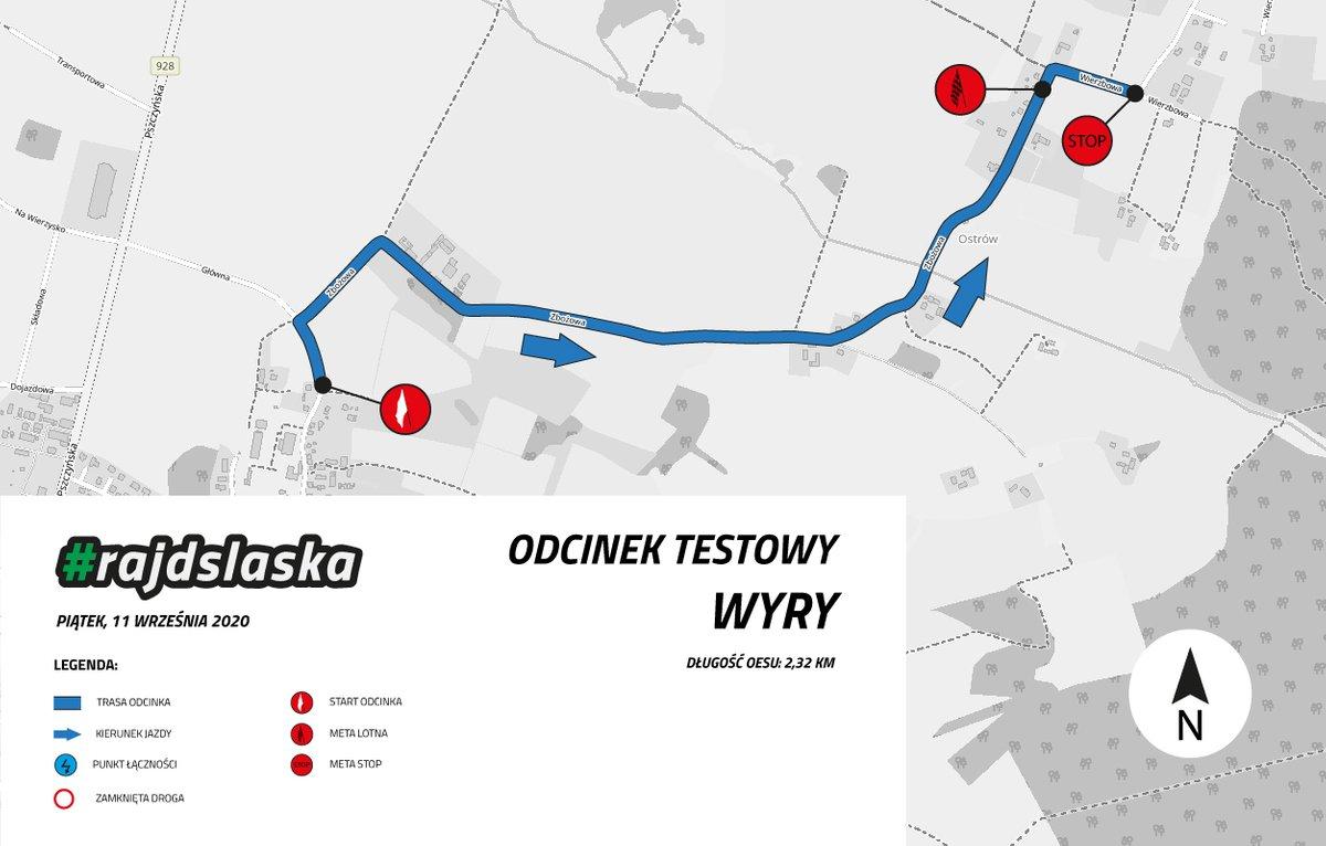 Rajd Śląska 2020, odcinek testowy