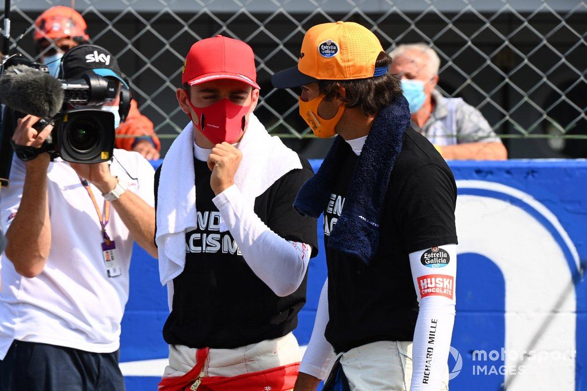 Charles Leclerc, Ferrari, Carlos Sainz Jr., McLaren