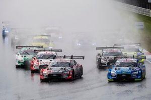 Start action, Loic Duval, Audi Sport Team Phoenix, Audi RS 5 DTM, Robin Frijns, Audi Sport Team Abt Sportsline, Audi RS5 DTM