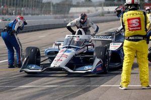 Arrêt au stand de Graham Rahal, Rahal Letterman Lanigan Racing Honda