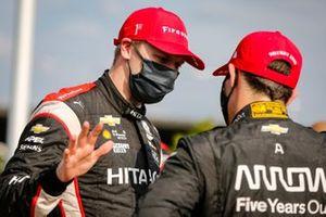 1. Josef Newgarden, Team Penske Chevrolet, 2. Patricio O'Ward, Arrow McLaren SP Chevrolet