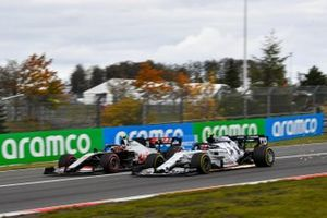 Kevin Magnussen, Haas VF-20, battles with Pierre Gasly, AlphaTauri AT01