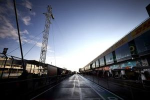 Mercedes-AMG F1 garage in the pit lane