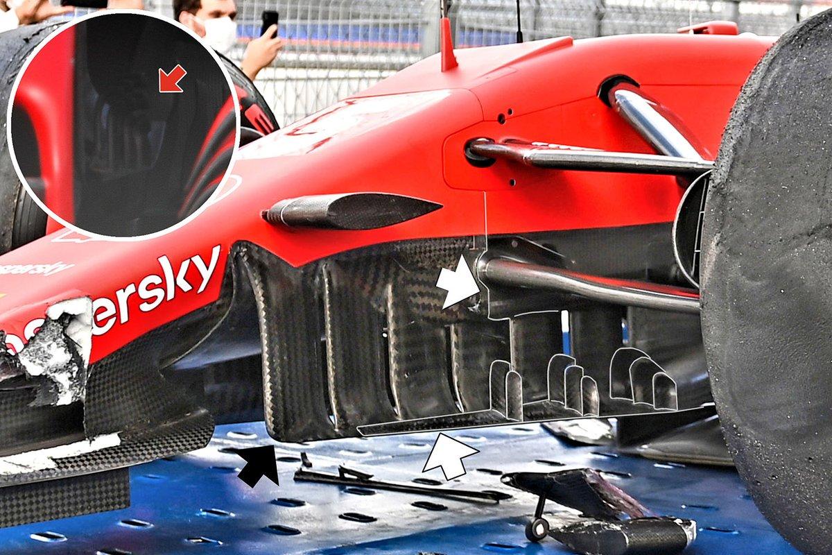 Ferrari SF1000 le modifiche ai turning vanes e al cape di Sochi