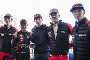 Elfyn Evans, Sebastien Loeb, Max Verstappen, Sebastien Ogier, Kalle Rovanpera