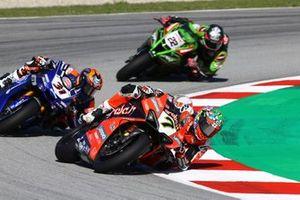 Chaz Davies, ARUBA.IT Racing Ducati, Elbow down
