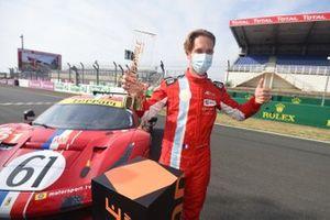 LMGTE Am pole sitter #61 Luzich Racing Ferrari 488 GTE Evo: Come Ledogar