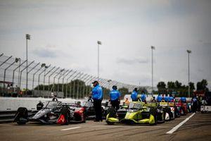 Charlie Kimball, A.J. Foyt Enterprises Chevrolet, Ed Carpenter, Ed Carpenter Racing Chevrolet