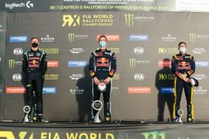 Podium: Race winner Timmy Hansen, Team Hansen, second place Johan Kristoffersson, Kristoffersson Motorsport, third place Kevin Hansen, Team Hansen