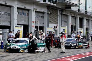 #28 Montaplast by Land-Motorsport Audi R8 LMS: Christopher Haase, Max Hofer, #32 Team WRT Audi R8 LMS: Charles Weerts, Dries Vanthoor