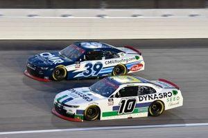 Ross Chastain, Kaulig Racing, Chevrolet Camaro Dyna-Gro Seed Ryan Sieg, RSS Racing, Chevrolet Camaro CMRRoofing.com