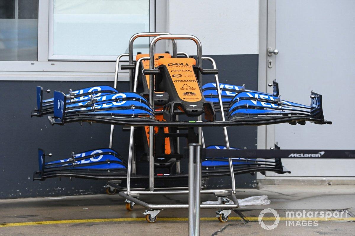 El alerón delantero de McLaren