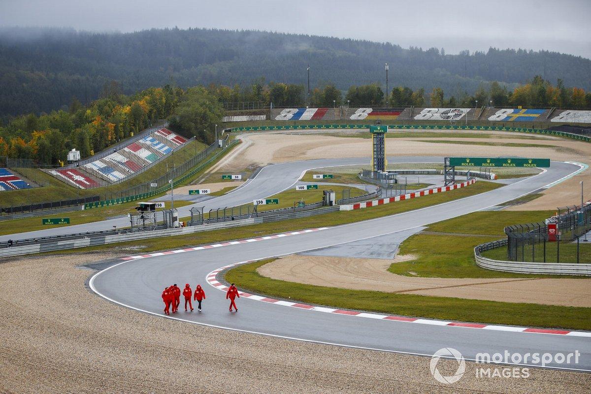 Себастьян Феттель, Ferrari, прогулка по трассе