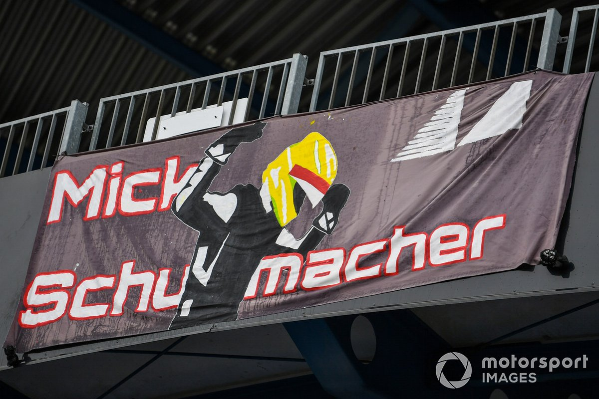 Banner for Mick Schumacher, Alfa Romeo Racing