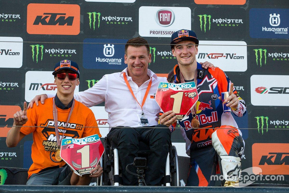 Jorge Prado, Pit Beirer y Jeffrey Herlings, Red Bull KTM Factory Racing
