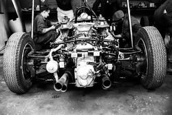 The air-cooled Flat Four engine that powered the Porsche 804