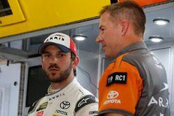 Daniel Suarez, Joe Gibbs Racing, Toyota Camry ARRIS and Scott Graves