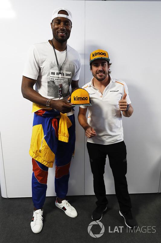 Serge Ibaka, Toronto Raptors NBA - Fernando Alonso, McLaren.