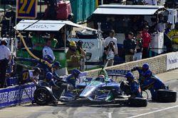Alexander Rossi, Andretti Autosport Honda lors d'un arrêt aux stands en fin de course
