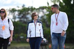 Claire Williams, Williams Deputy Team Principal with husband Marc Harris