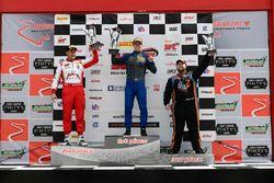 #1 Blackdog Speed Shop Chevrolet Camaro GT4: Lawson Aschenbach, #50 Team Panoz Racing Panoz Avezzano GT4: Ian James,#74 Robinson Racing Mercedes-AMG GT4: Gar Robinson