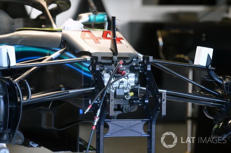 Suspensión delantera del Mercedes-AMG F1 W09