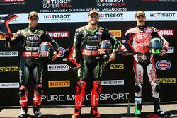 Pole: Tom Sykes, Kawasaki Racing, 2. Jonathan Rea, Kawasaki Racing, 3. Eugene Laverty, Milwaukee Aprilia