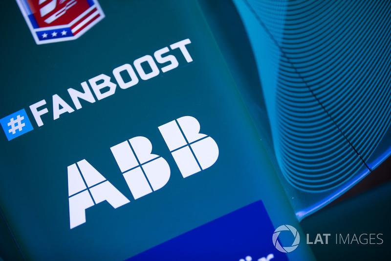 Fanboost, ABB logos en el Andretti Formula E