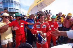 Race winner Alain Prost, McLaren MP4/3
