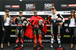 Pole: Tom Sykes, Kawasaki Racing, 2. Jonathan Rea, Kawasaki Racing, 3. Loris Baz, Althea Racing