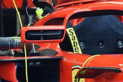 Espejo en el Halo del Ferrari SF71H