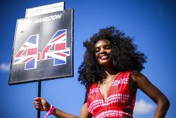 Gridgirl for Lewis Hamilton, Mercedes AMG F1