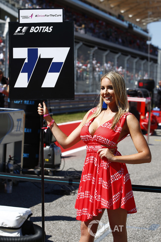 Grid Girl for Valtteri Bottas, Mercedes AMG F1