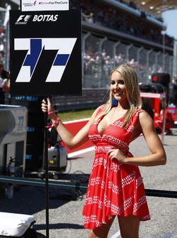 Chica de la parrilla Valtteri Bottas, Mercedes AMG F1