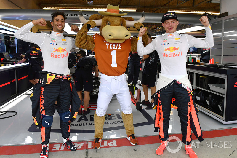 Даніель Ріккардо, Макс Ферстаппен, Red Bull Racing, талісман Longhorns