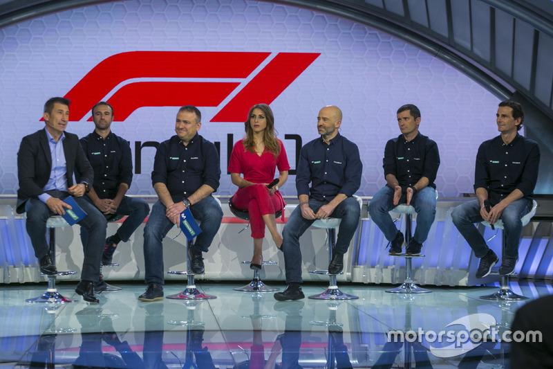 Parte del equipo de Movistar + F1