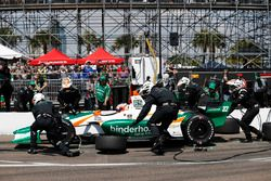 Rene Binder, Juncos Racing Chevrolet, pit stop