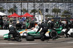 Rene Binder, Juncos Racing Chevrolet, pit stop