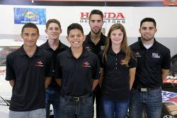 NASCAR 2018 piloto por la diversidad Clase de desarrollo de pilotos, Ernie Francis Jr., Ryan Vargas, Isabella Robusto, Nick Sanchez, Ruben Garcia Jr., Chase Cabre